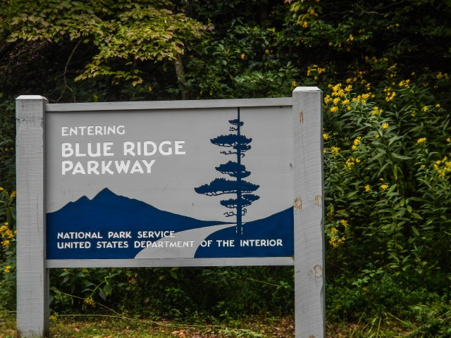 Entering Blue Ridge Parkway Sign