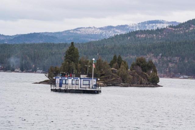 Boat on Flathead Lake Kalispell