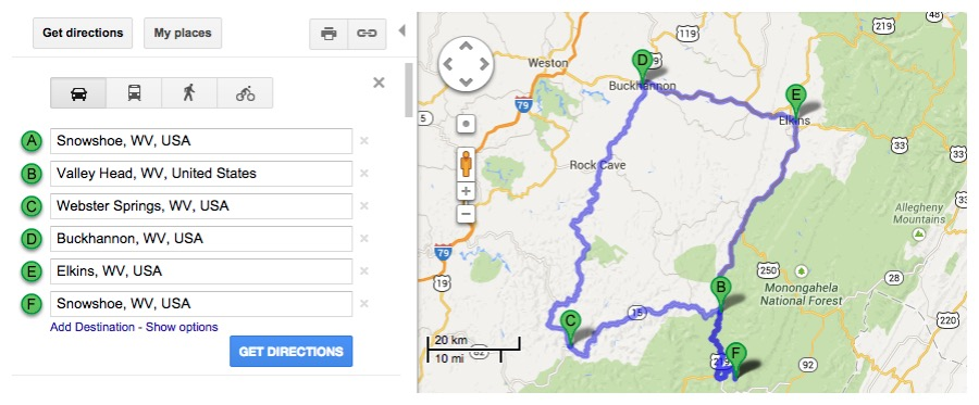Road Trip Planner West Virginia Scenic Drives & Highways