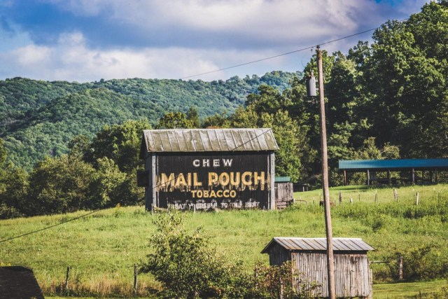 Mail Pouch Tobacco Sign on A West Virginia Road Trip