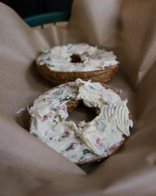 Myer's Bagel with cream cheese