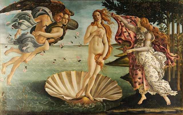 Sandro Botticelli - Birth of Venus painting