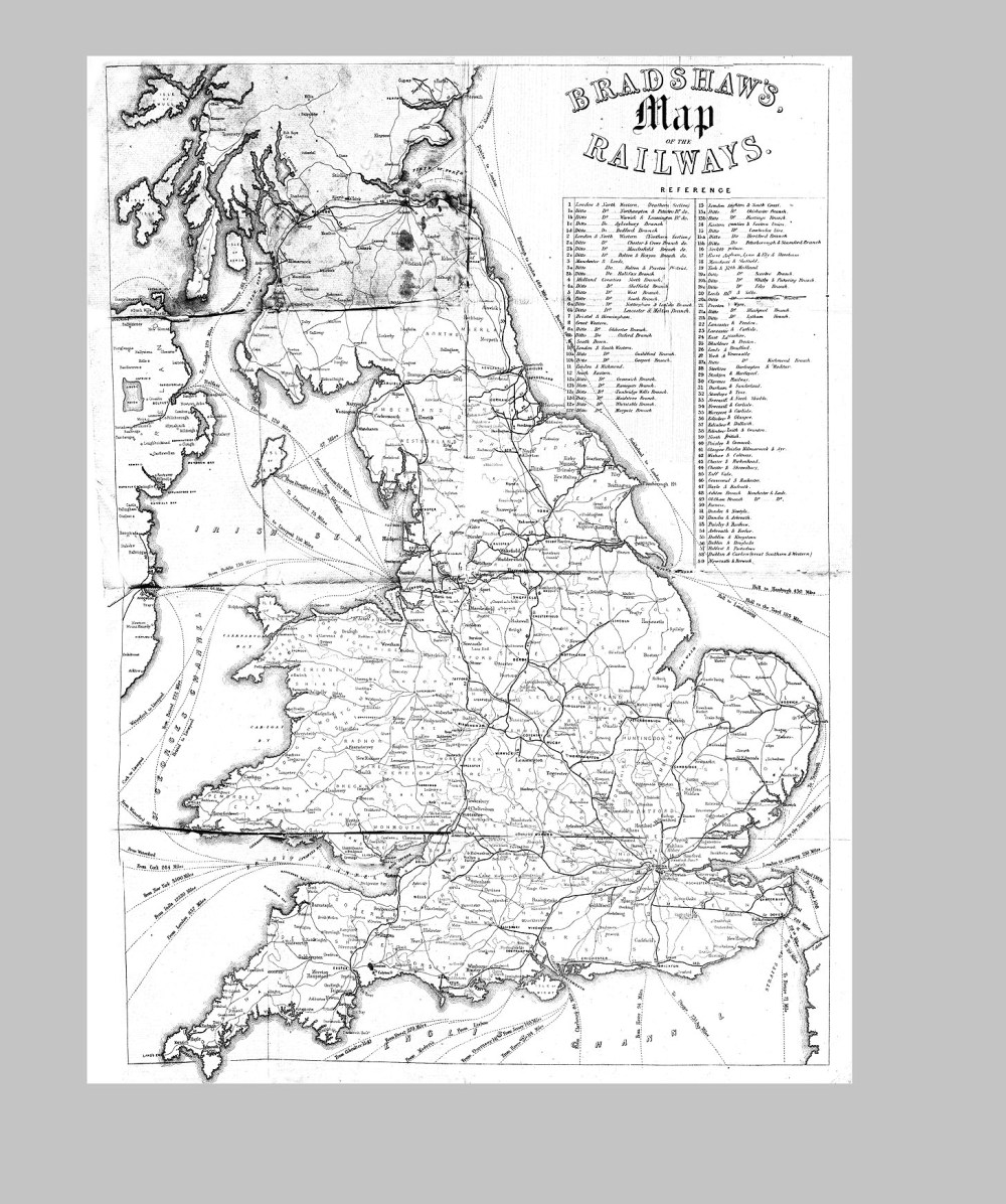 medium resolution of examine route maps for the railways such as the 1850 bradshaw s map of the railways on the consulting detective website