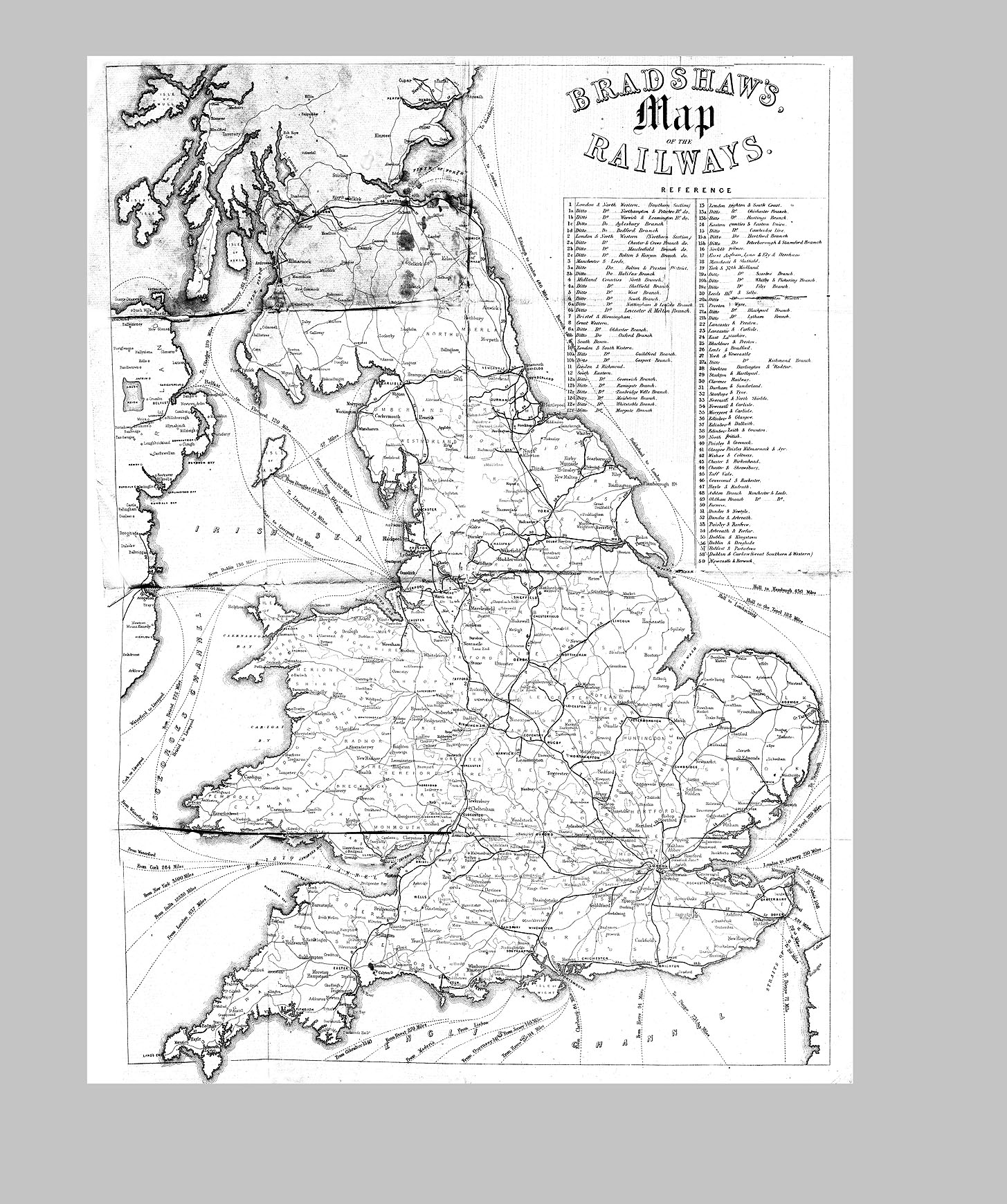 hight resolution of examine route maps for the railways such as the 1850 bradshaw s map of the railways on the consulting detective website