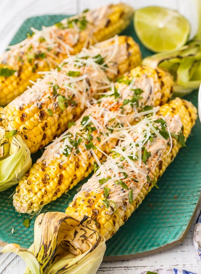 spicy mexican grilled corn on the cob