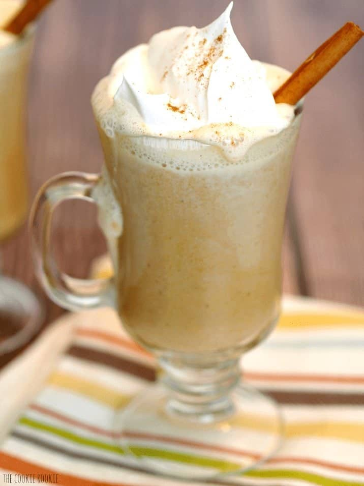 pumpkin drink topped with whipped cream