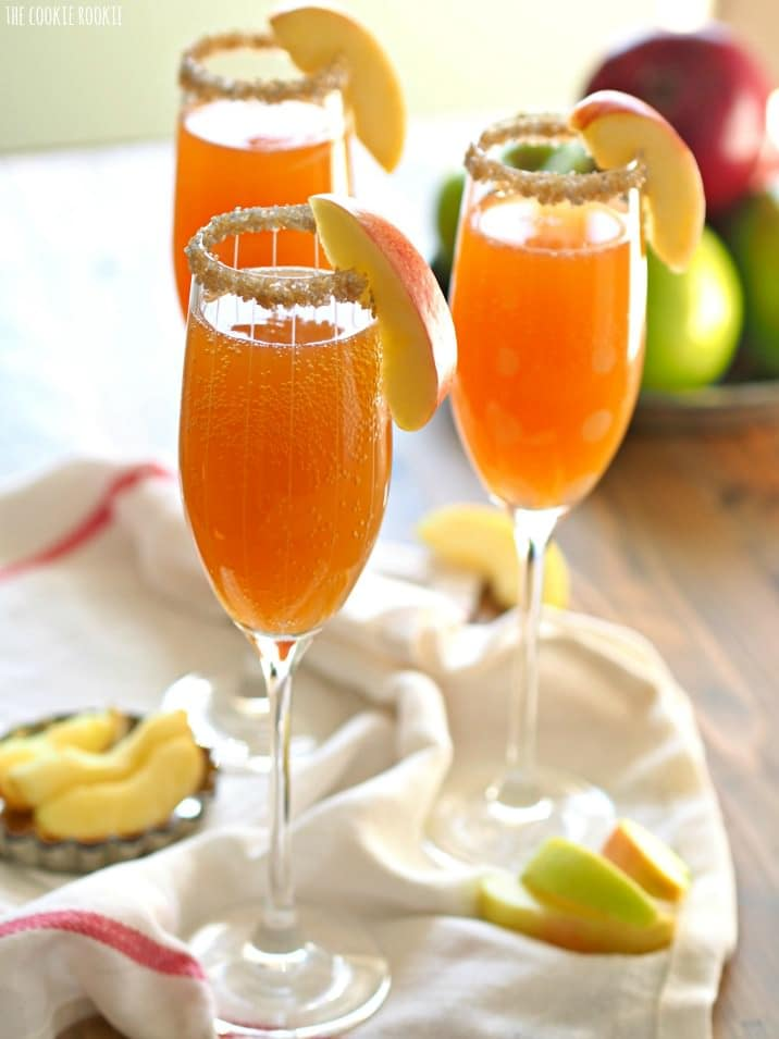 ThisApple Cider Mimosa Recipeis simple, delicious and the perfect for Fall! You deserve such a fun and bubbly treat once in a while. Thanksgiving is the perfect time for an Apple Cider Cocktail, especially one as easy and tasty as this. If you've wondered how to make the perfect mimosa, this recipe is for you! I love a Mimosa, and this is my favorite Mimosa Recipe!