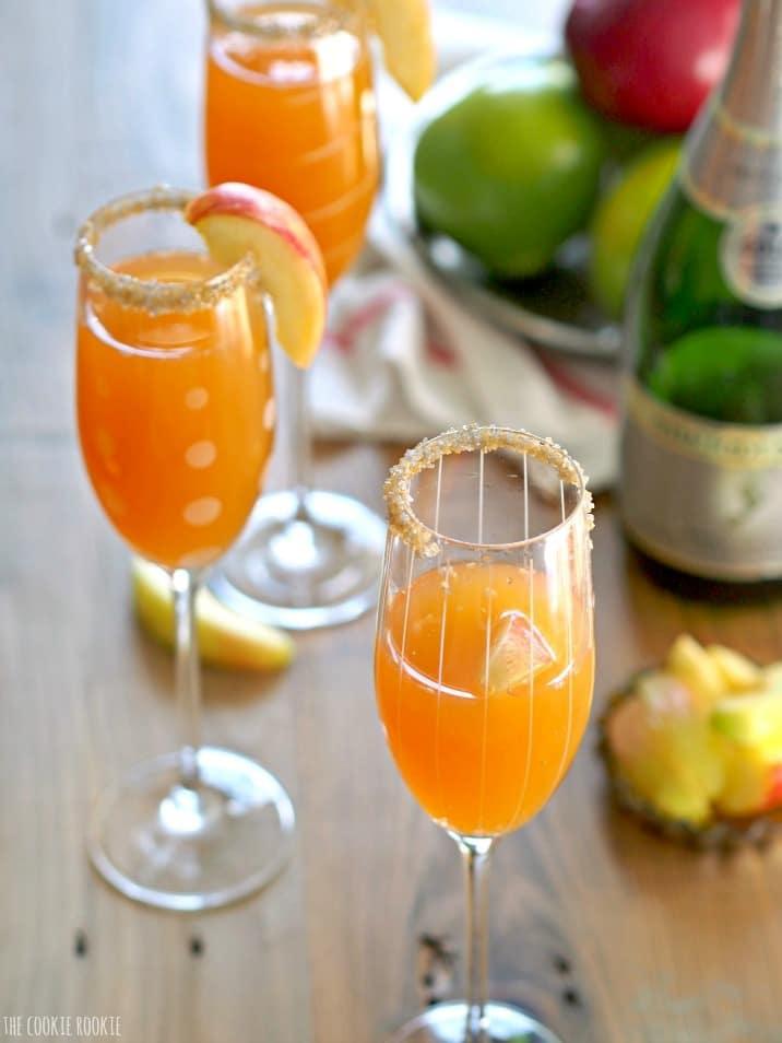 apple mimosas