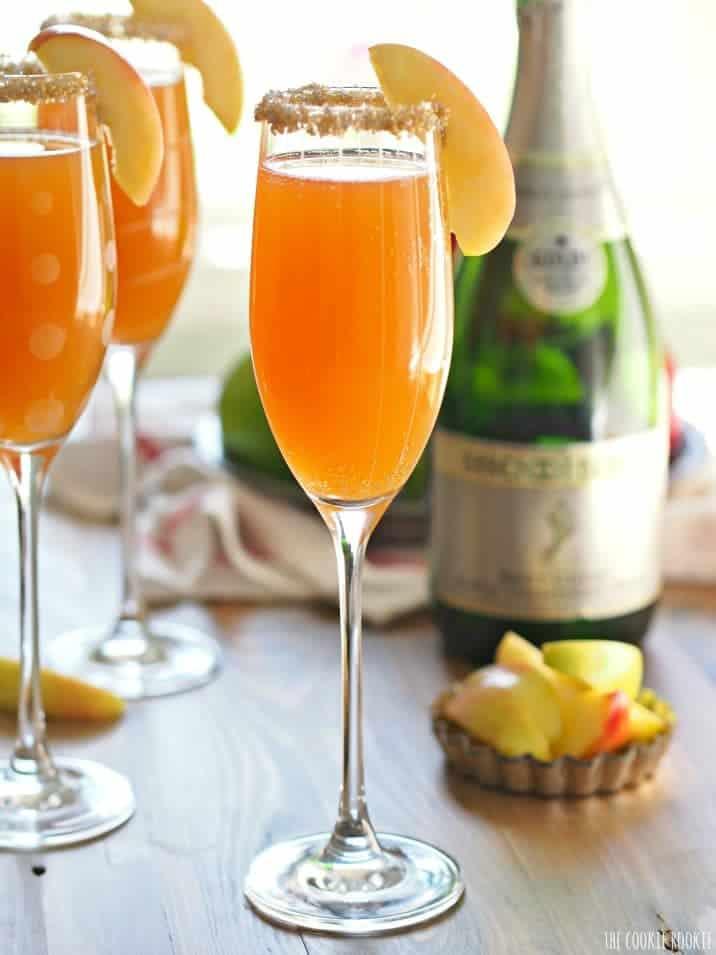 flutes of apple mimosas