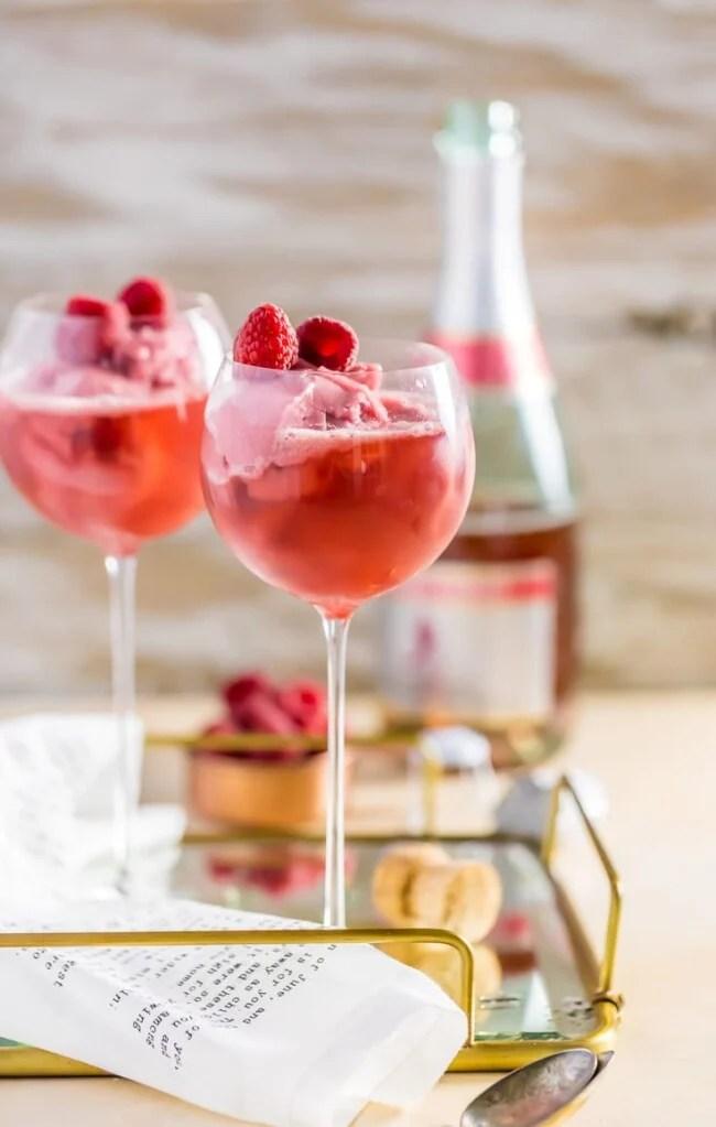 Raspberry Pink Champange Floats