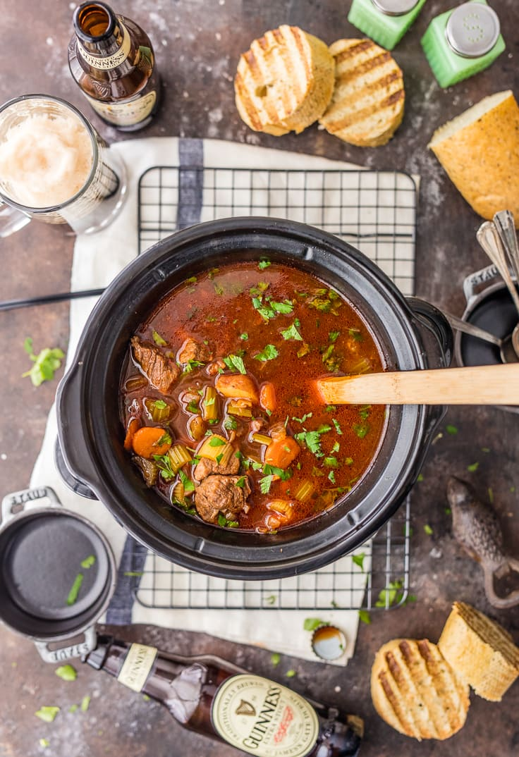 guinness beef stew in a slow cooker