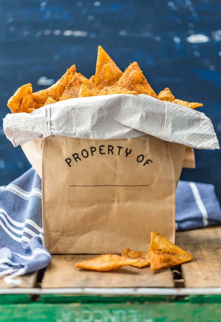 a cloth bag filled with cool ranch doritos