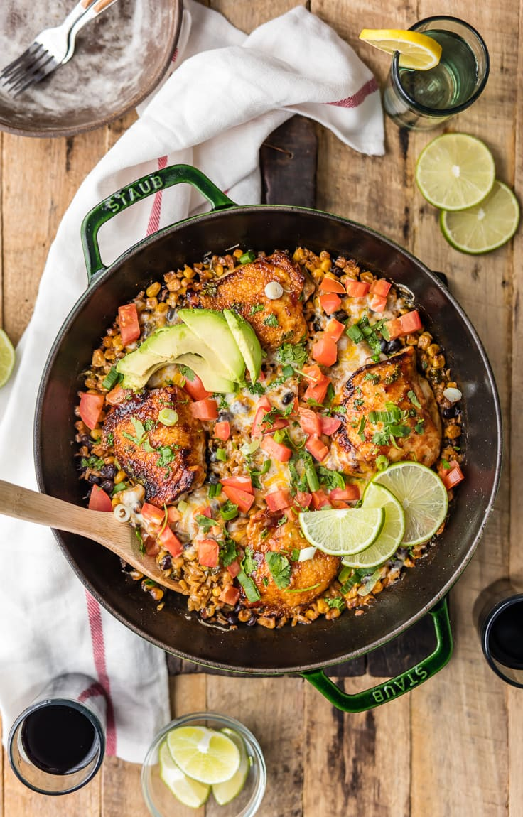 One Pan BBQ Ranch Chicken Skillet {The Cookie Rookie}