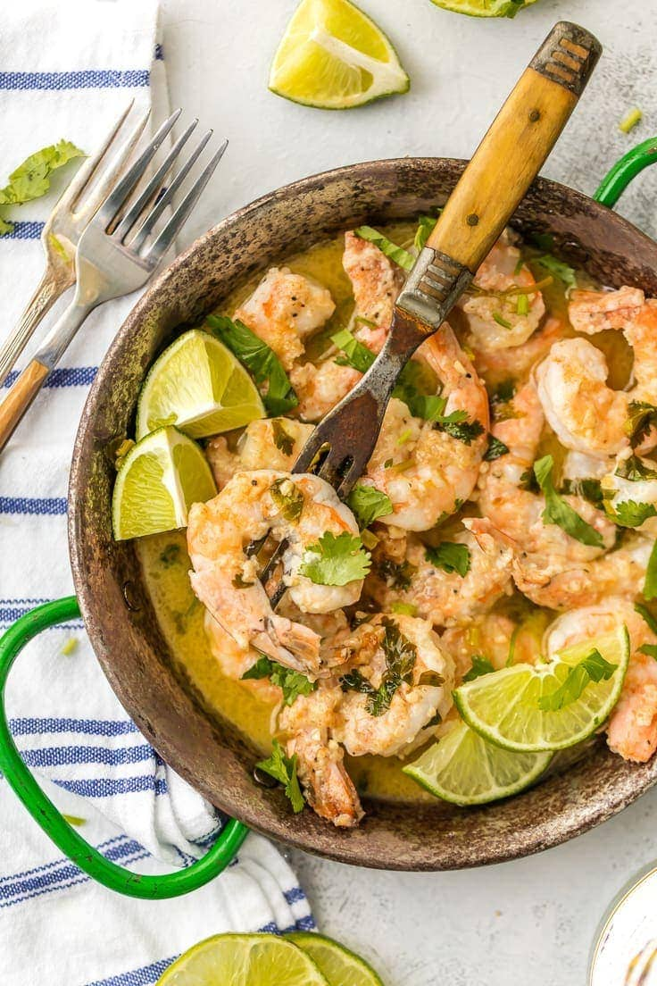 Cilantro Lime Shrimp Scampi {The Cookie Rookie}