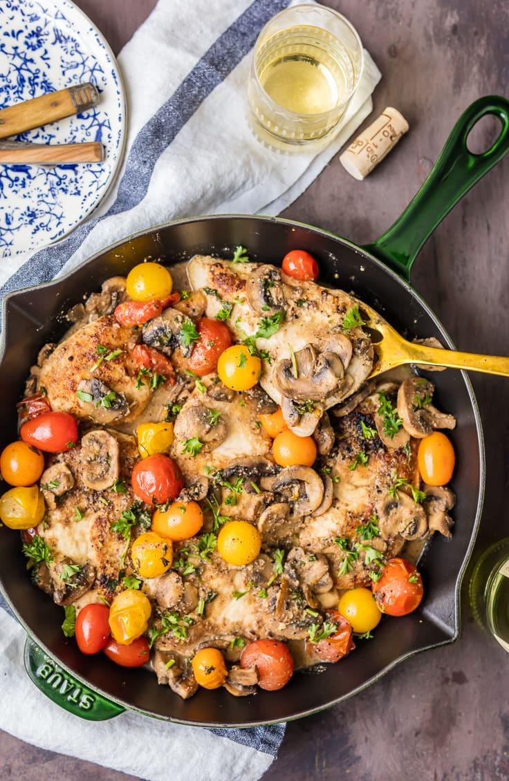 Gluten Free Chicken Marsala {The Cookie Rookie}