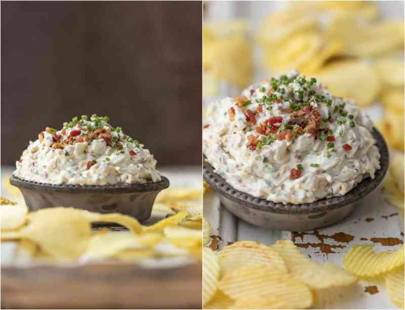 This CARAMELIZED ONION BACON DIP is the ultimate super easy appetizer to make for game day! This sour cream dip is made in minutes and loved by all...so much flavor!