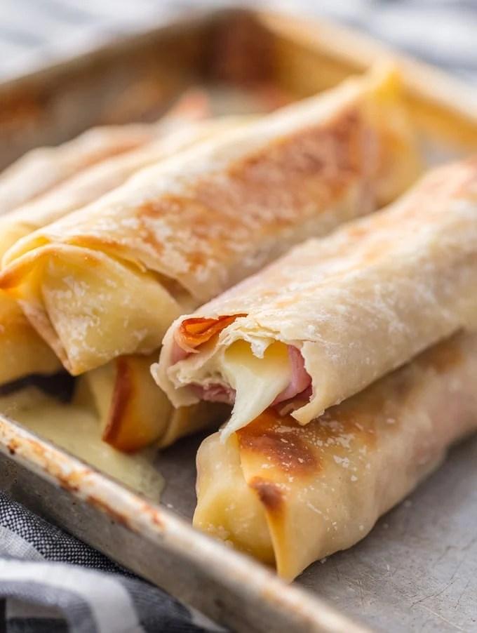 Baked Ham & Cheese Mozzarella Sticks