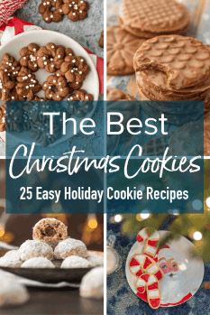 These EASY Christmas Cookies are so much fun to bake! I've gathered some of my best Christmas Cookie ideas to help you celebrate the season. So pick your favorite easy Christmas cookie recipe, gather your ingredients, and enjoy these holiday cookies!