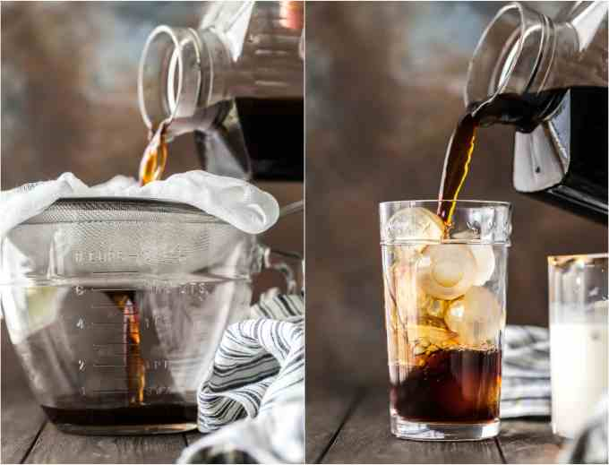 step by step photos of how to make iced coffee at home