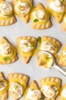 These lemon meringue cookies are a fun, bite-sized version of lemon meringue pie! These easy lemon meringue pie tarts are the perfect dessert to serve at parties!