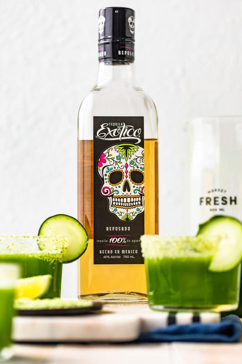 exotico reposado tequila for cucumber margaritas