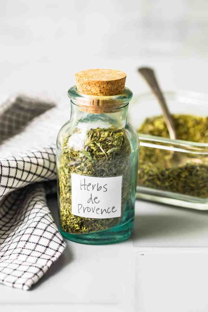 Herbs de Provence in a sealed jar