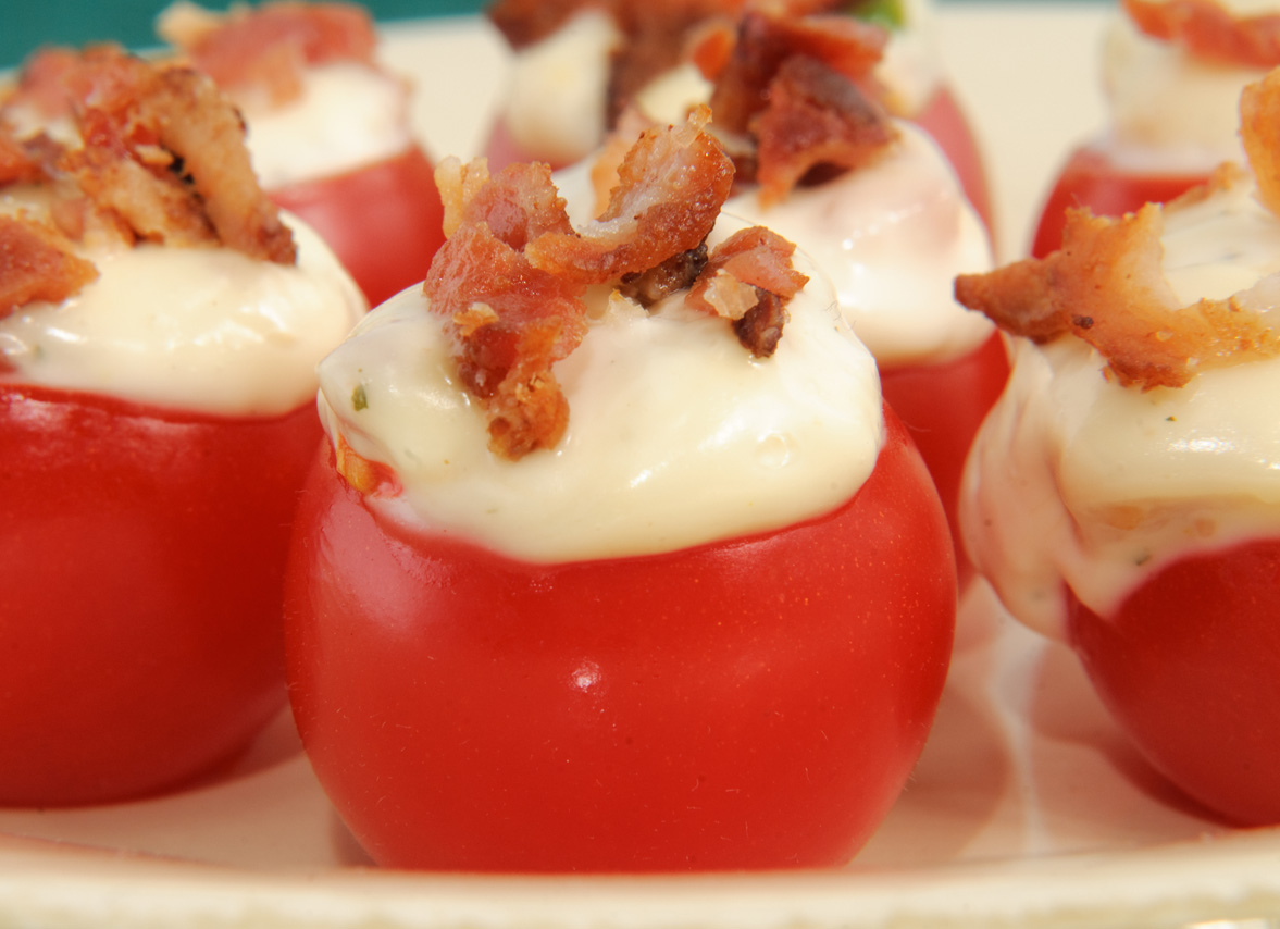Bacon Stuffed Cherry Tomatoes  The Cooking Mom