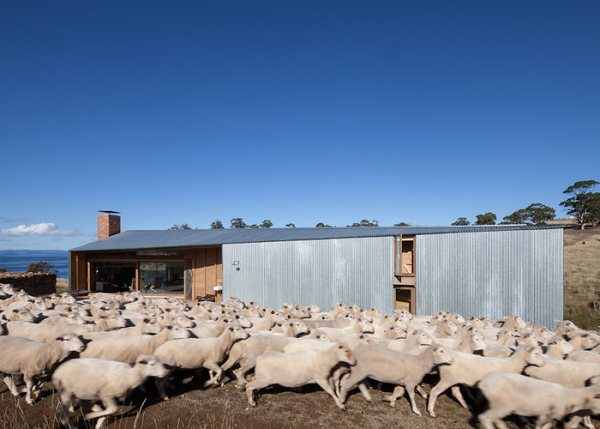 slide-dezeen-john-wardle-architects-shearers-quarters-north bruny island tazmania 2