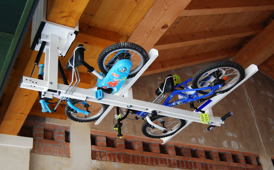 Flat-Bike-Lift - indoor bike rack
