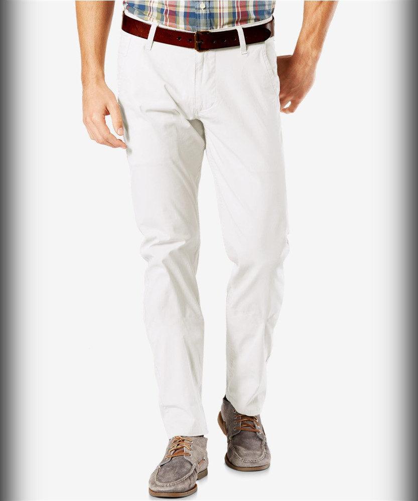 Dockers Alpha Khaki Slim-Tapered Lightweight Summer Pants for Men