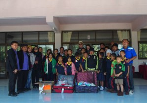 Delivering school supplies to Chiang Dao