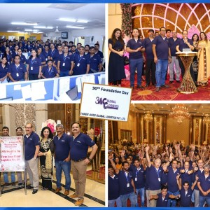 Three Aces Global Logistics celebrates their 30th Foundation Day