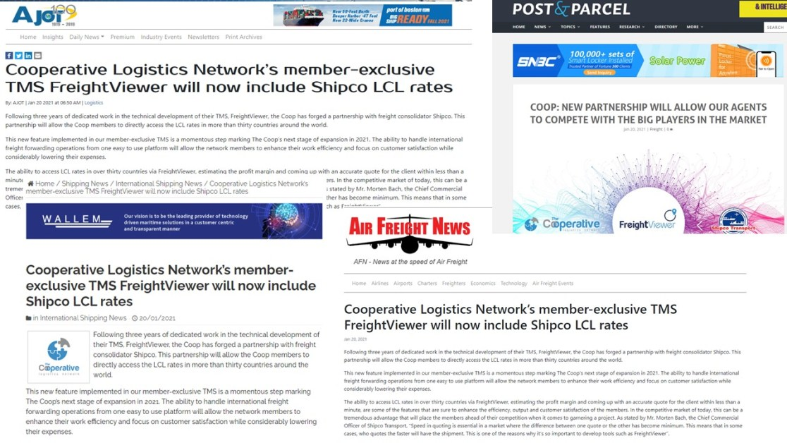 THE COOp in the news_Shipco LCL rates_digital freigt forwarder