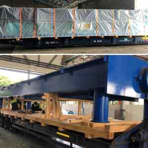 E2E Supply Chain Management moves a test bench of 26 tonnes