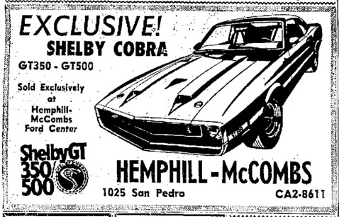 Pete Disher presents The Best 1968 Shelby Webpage