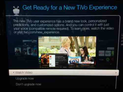 TiVo Rollout of a New TiVo Experience Hydra – The Cord