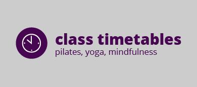 pilates and yoga timetable OX17