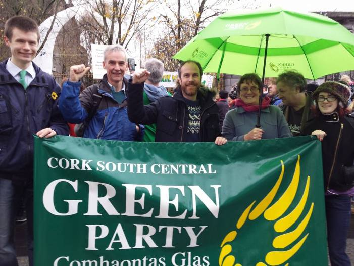 Cork Green Party candidate marches with hundreds of Cork residents demanding action on climate change