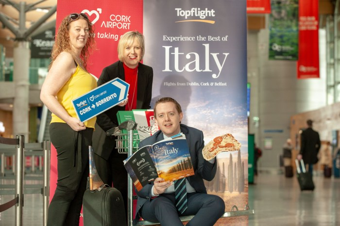 Fly direct from Cork Airport to Sorrento Italy