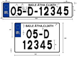 Customised Irish number plates