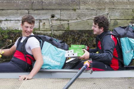 Deliveroo stage river delivery as PR stunt in Cork