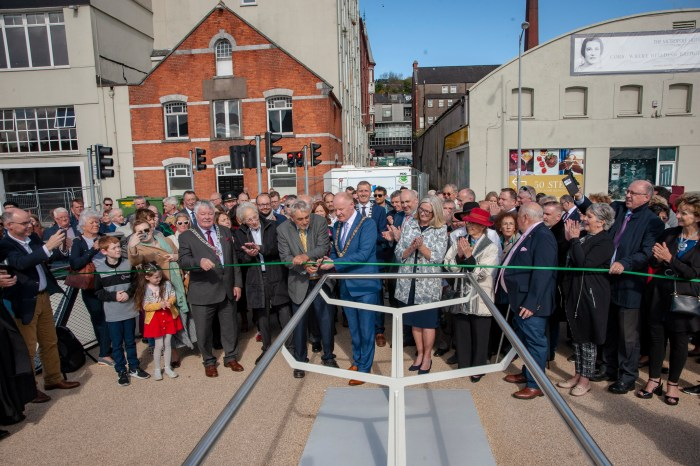 CORK'S NEWEST BRIDGE: named after Mary Elmes has been officially opened