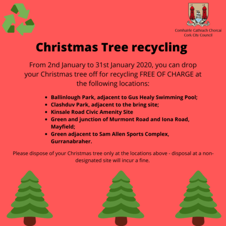 Where to get rid of Christmas Tree in Cork?