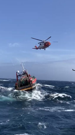 Courtmacsherry RNLI Lifeboat in callout to 75 foot Fishing Vessel in difficulties 27 miles off Old Head of Kinsale #WestCork