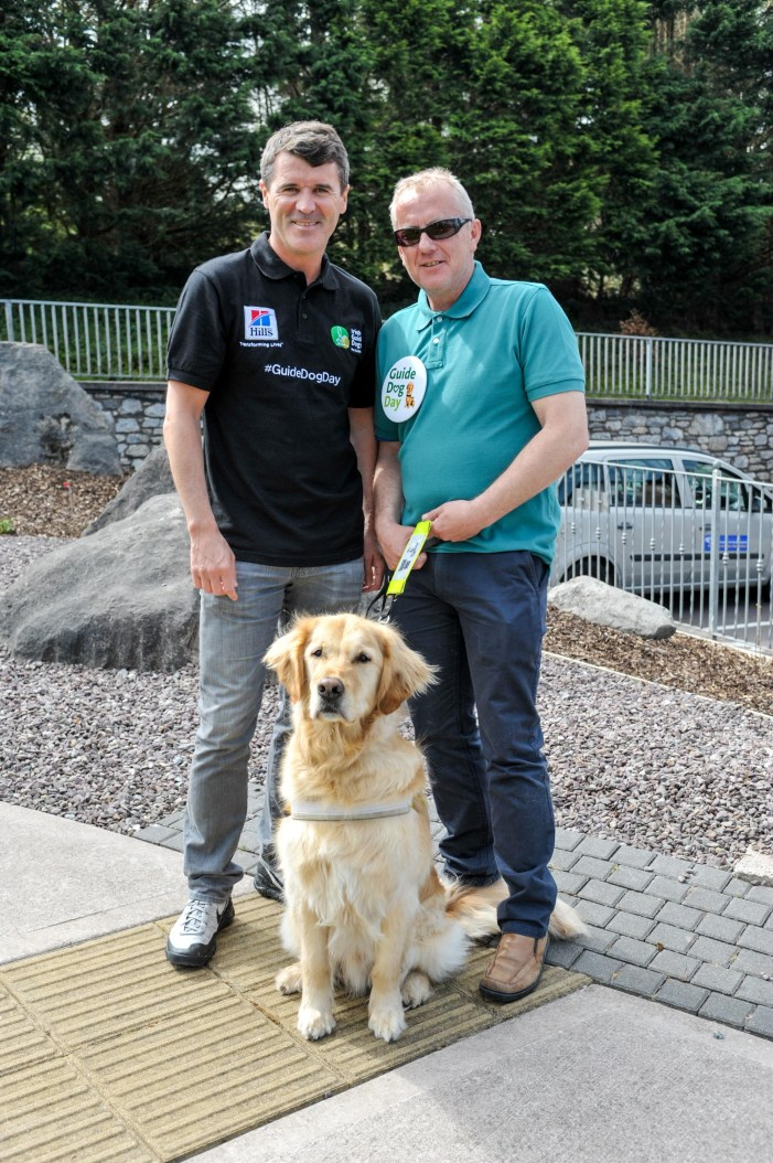 Roy Keane meets Cork Guide Dog Owners