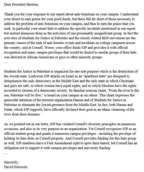 Horowitz Letter 3