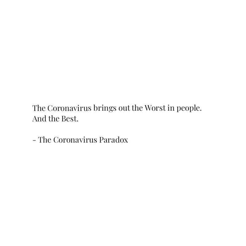 The Coronavirus Paradox