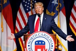 Trump rips Biden in return speech at NC GOP  convention, vows 'tremendous 2022'