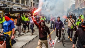 Anti-Vaccine Protesters Clash With Police In Melbourne, Australia, For The 2nd Day