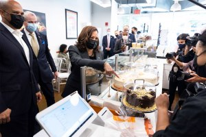 Harris hits up NJ bakery as officials meet with Mexico on immigration
